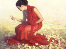 beautiful,feeling,girl,leaves,red,dress,woman-c3e9d0dcb9dae202fd4a9a75852486bd_h